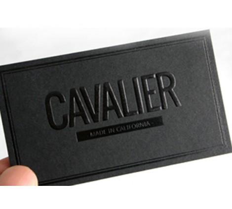 14PT Black matte card - Black foil