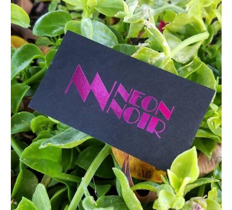 14PT Black matte card - Pink foil