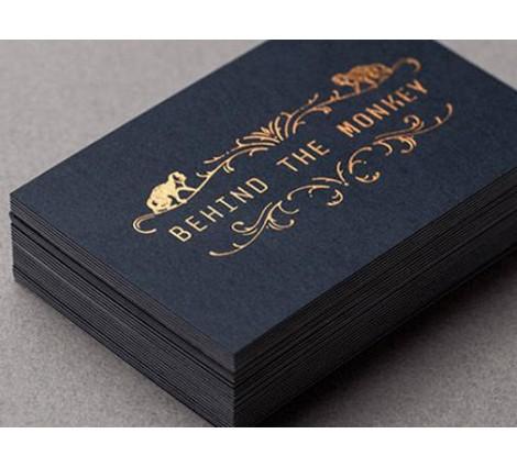 14PT Black matte card - Rose gold/copper foil