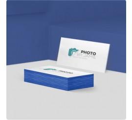 "38PT triple layered blue suede postcards - 4""x6"""