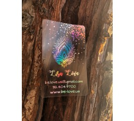 Frosted plastic with hologram metallic foil