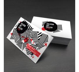 "38PT triple layered black suede postcards - 4""x6"""